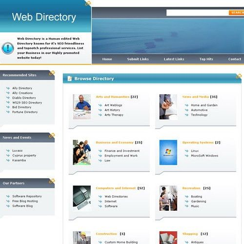 PHP Link Directory Template Archive - List of Templates for Version3.3