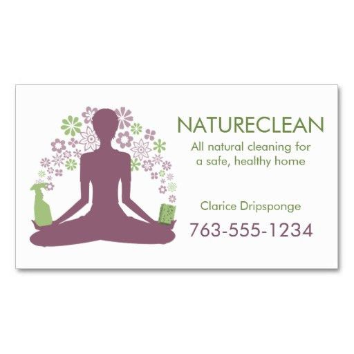 Yoga zen natural home cleaning house cleaner business card   House ...