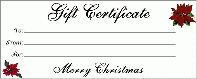 Gift Certificate templates For Word | Blank Certificates