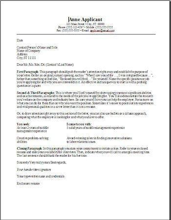 job fair cover letters