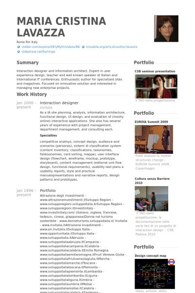 Interaction Designer Resume samples - VisualCV resume samples database