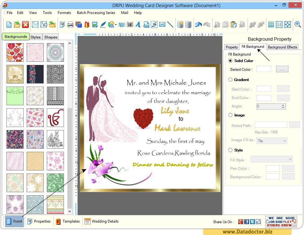Wedding Card Designing Software | design beautiful invitation cards
