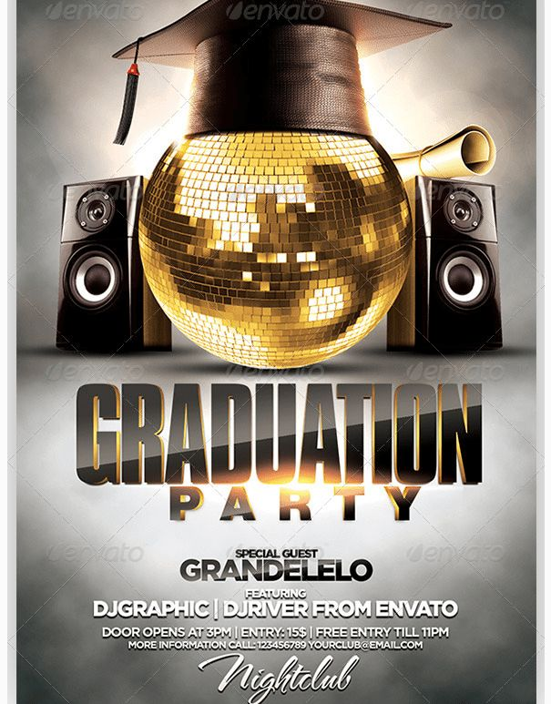 Graduation Flyer Template Archives - Party Flyer Templates For ...