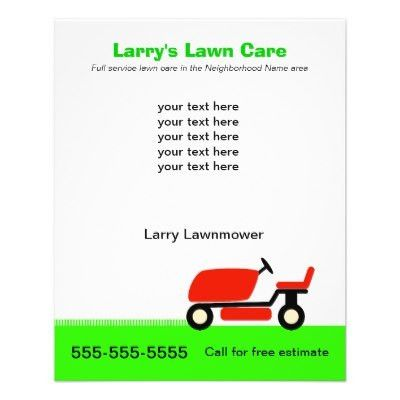 Lawn Care 8.5 x 11 Coupon Promotion Business Flyer | Zazzle.com