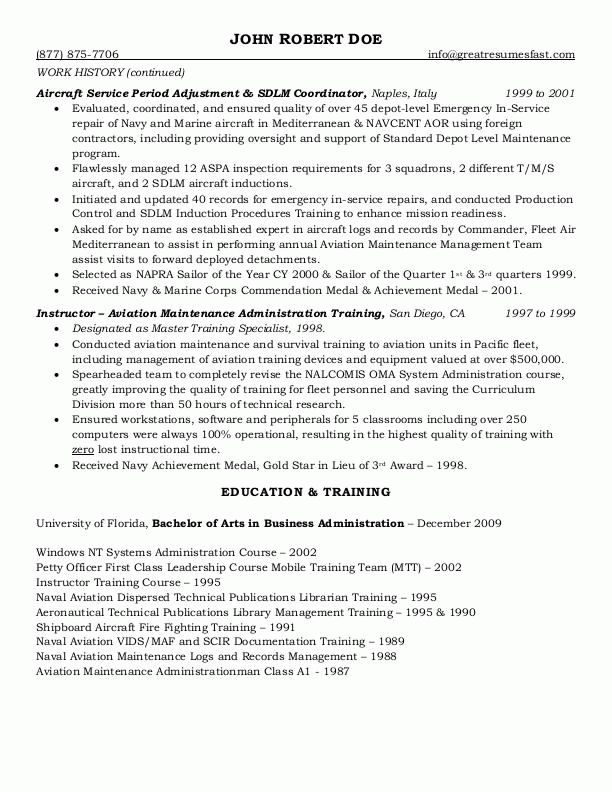 Format Of Federal Government Resume - http://www.resumecareer.info ...