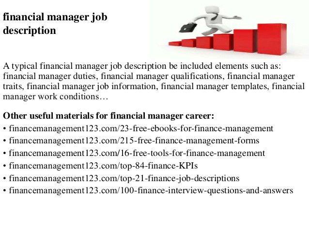 financial manager job description