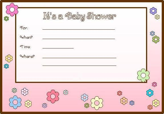 Printable Baby Shower Invitation Cards Templates | Best ...