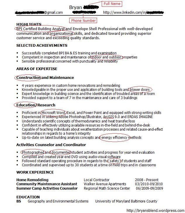 successful resumes examples