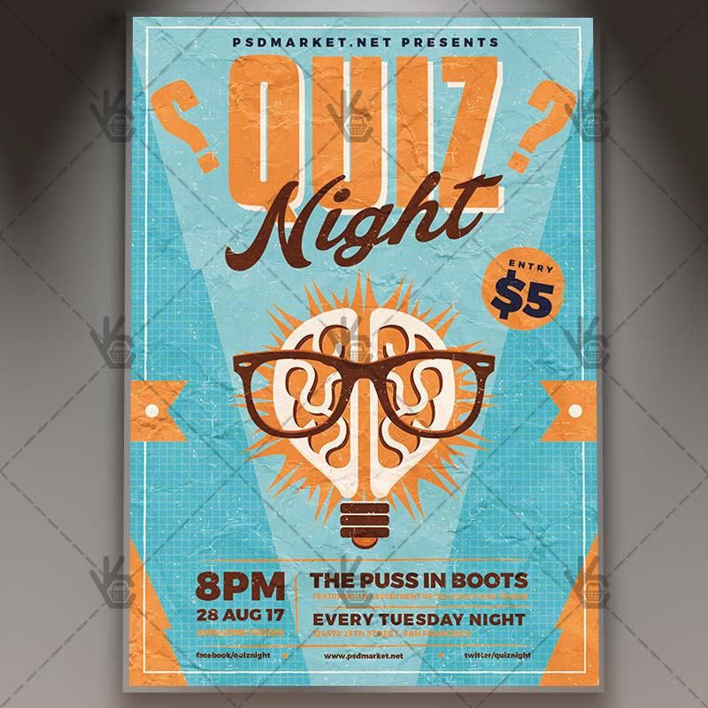 Quiz Night - Premium Flyer PSD Template | PSDmarket