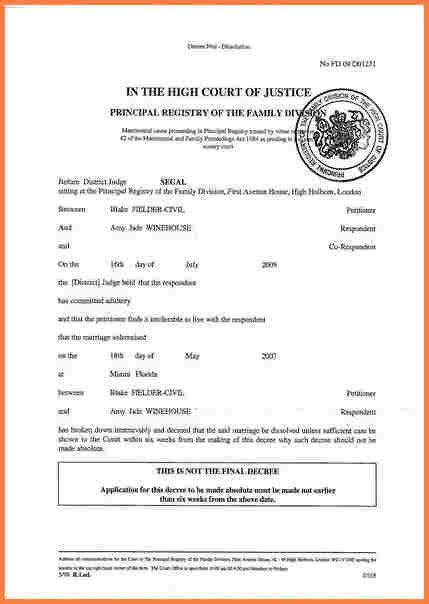 13+ online free divorce papers   Divorce Paper