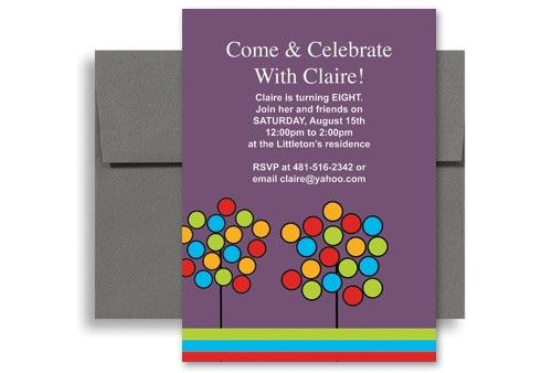 Create Your Own Microsoft Word Birthday Invitation 5x7 in ...