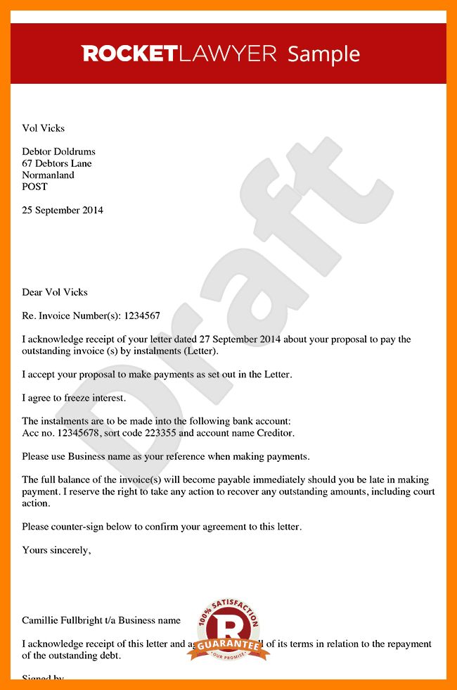 6+ agreement letter of payment | protect letters