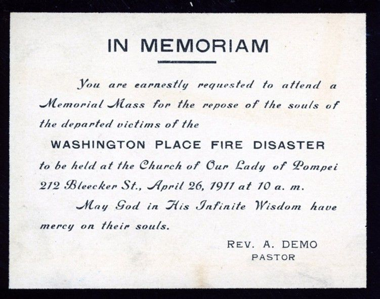 Triangle Fire Open Archive | Funeral