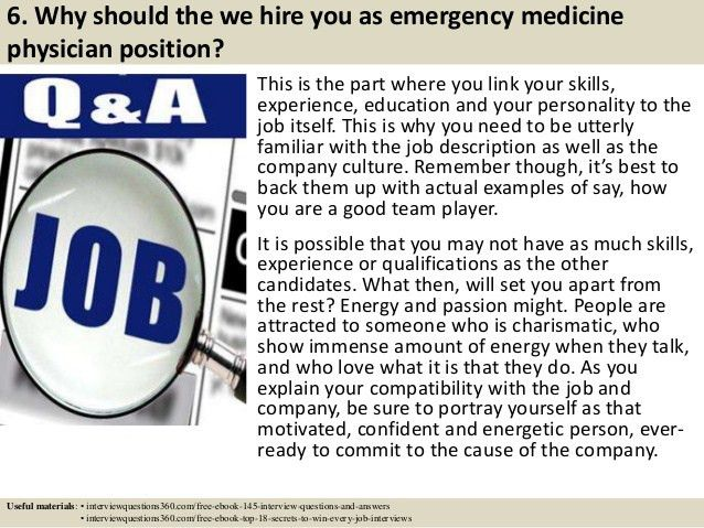 Top 10 emergency medicine physician interview questions and answers
