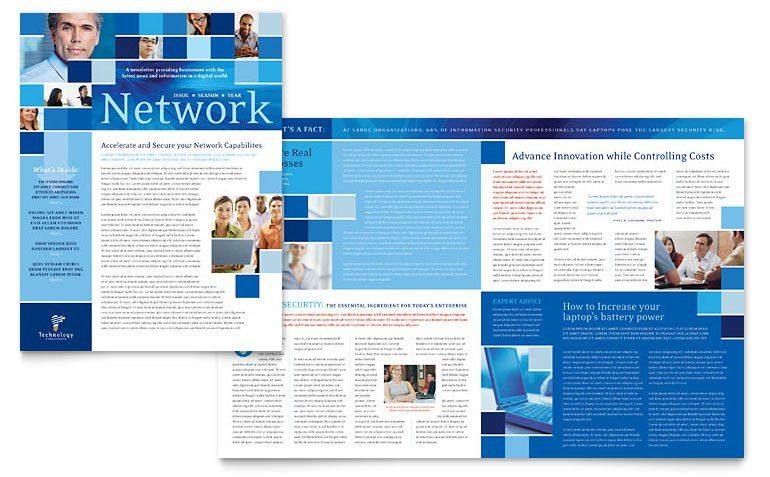 Technology Consulting & IT Newsletter Template - Word & Publisher