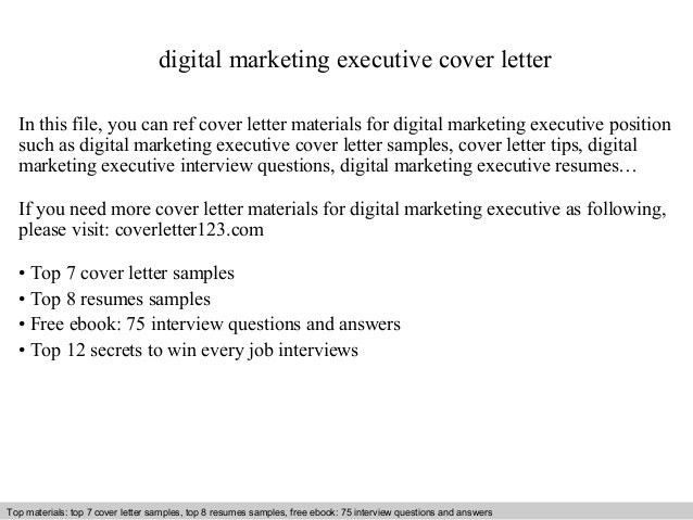 marketing cover letter marketing cover letter example sample