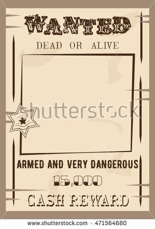 Wanted Poster Template Vector Illustration Vintage Stock Vector ...