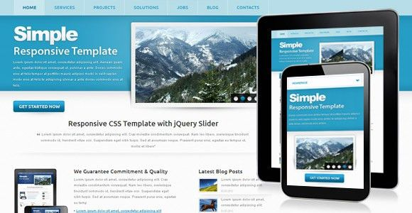 Simple - Free Corporate Responsive Template | ChocoTemplates
