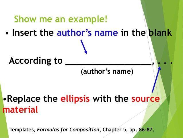 MLA Introductory Signals & Parenthetical Citations