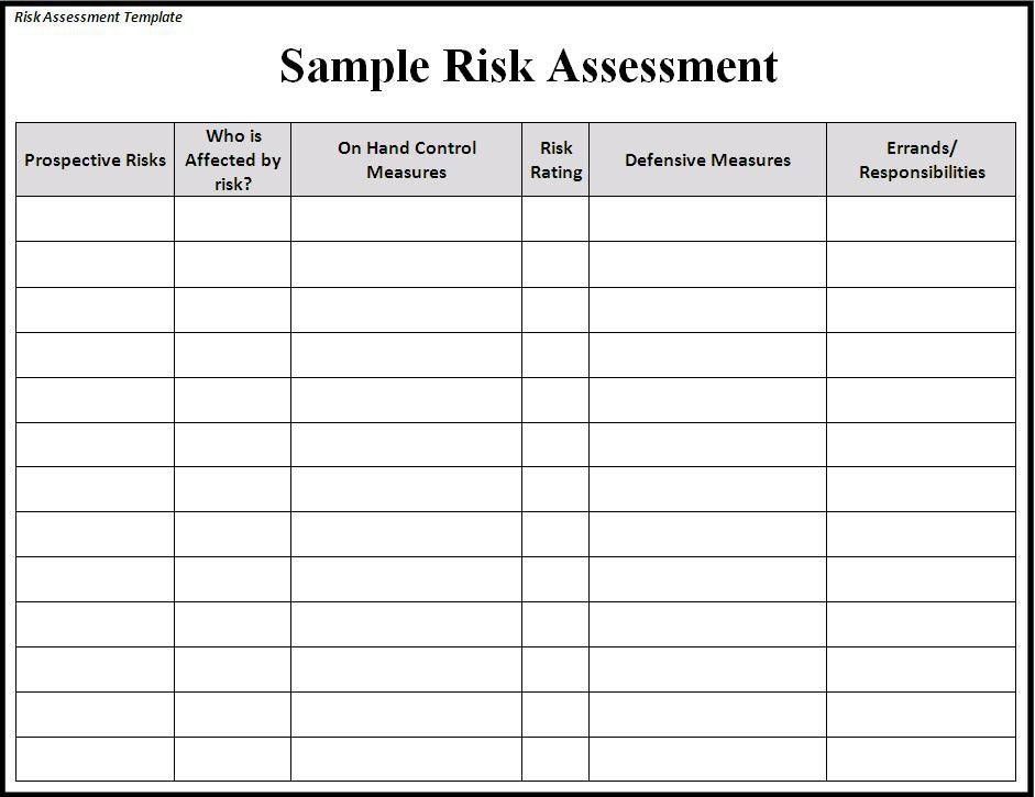 Risk Assessment Template #risk #sample #assessment #template ...
