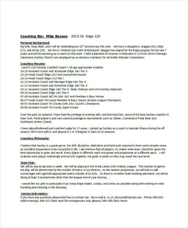 soccer coaching resume 1258 httptopresume info20150112 sample ...