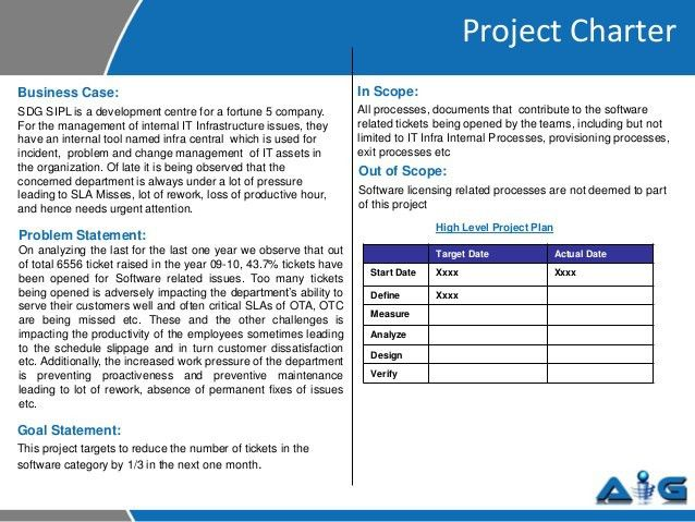 Project Charter Template. Project Charter Template In Excel A ...