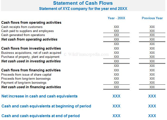 What is Cash Flow Statement? Definition, Example, Format