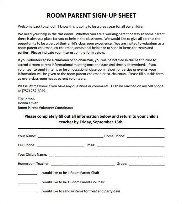 Sample Sign Up Sheets  LondaBritishcollegeCo