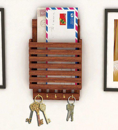 Buy Wooden Letter Rack Cum Key Holder Online - WTF Deals- Reg ...