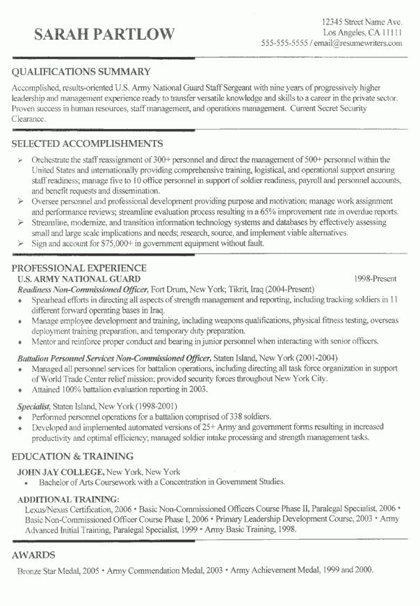 Air Force and Aviation Manager Resume Example: Sample Military Resumes