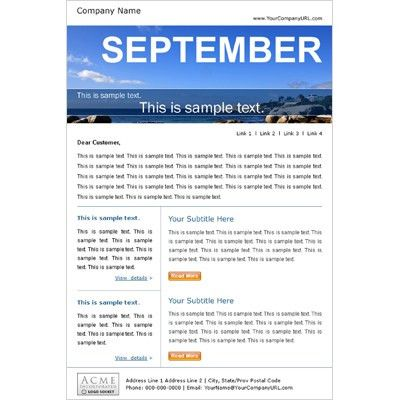 Email Marketing Template Samples, Newsletter Template Samples ...
