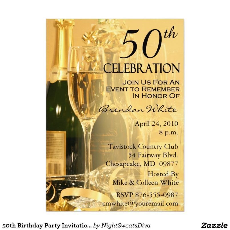 Template Exquisite 50th Birthday Invitation Card Format With ...