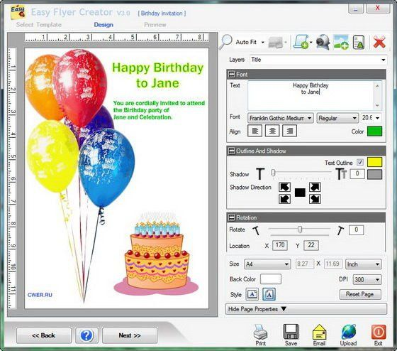Easy Flyer Creator - Graphic Design Software Download for PC