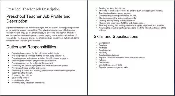 resume kindergarten teacher objectives for resume for teaching ...