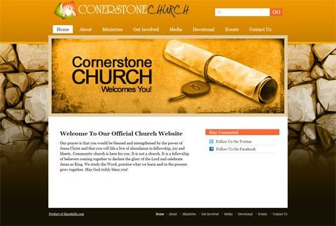 JUST RELEASED! Three New Church Website Templates - Sharefaith ...