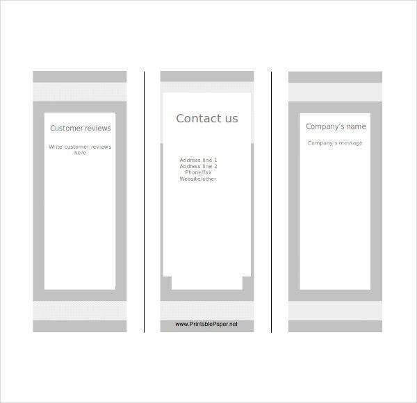 Blank Tri Fold Brochure Template – 17+ Free PSD, AI, Vector EPS ...