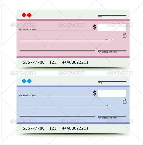 free blank deposit check template in pdf. how to print a check ...