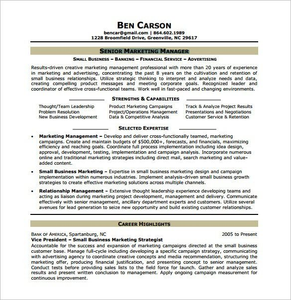 Marketing Analyst Resume Template – 10+ Free Word, Excel, PDF ...