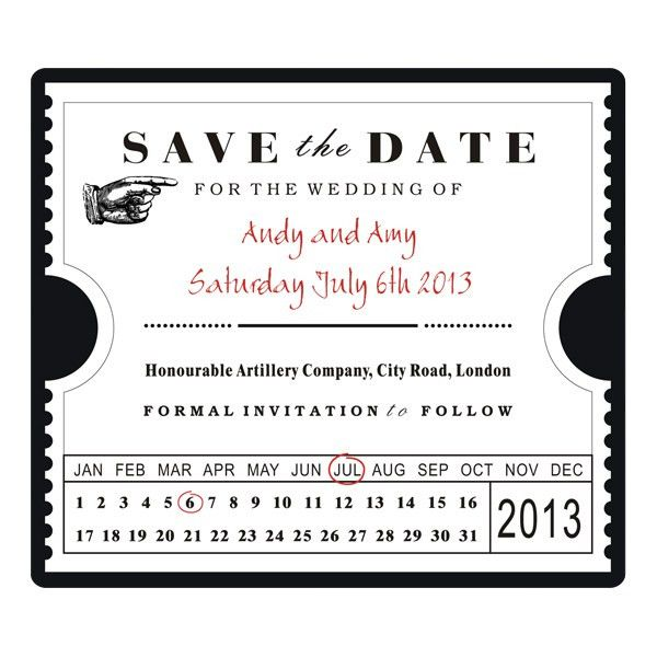 wedding invites ticket stubs | Save The Date Ticket Stub Template ...