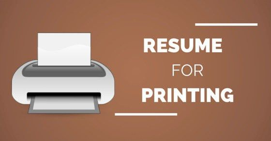 Resume for Printing: Best Paper Type, Size, Color and Weight ...