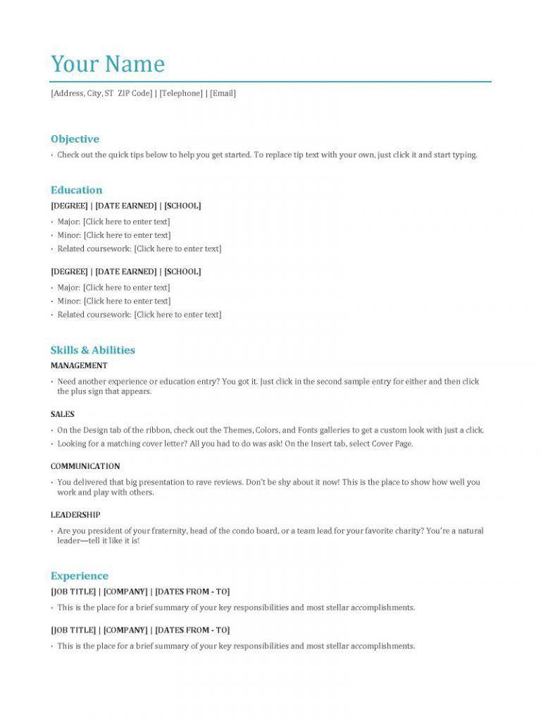 3 Resumes Types - Contegri.com