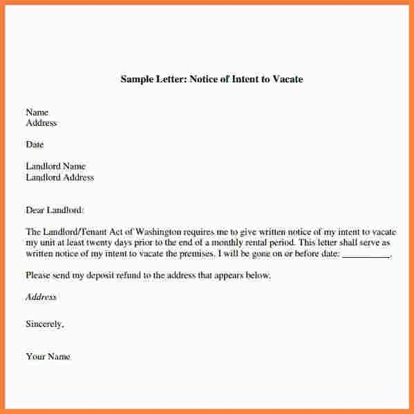 9+ notice to vacate letter to landlord | Second Notice Letter