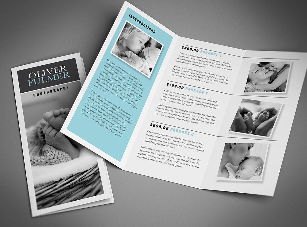 "Tri-fold Brochure Template – Blue ""Serenity"" 