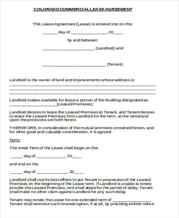 Sample Commercial Lease Agreement in Word - 8+ Examples in Word