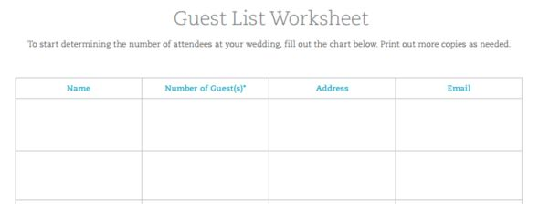 How to Use A Wedding Guest List Template to Invite, Track RSVPs ...