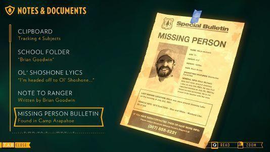 Missing Person Bulletin - Firewatch Wiki