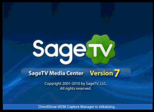 DirectShow WDM Capture Manager is initializing - SageTV Community