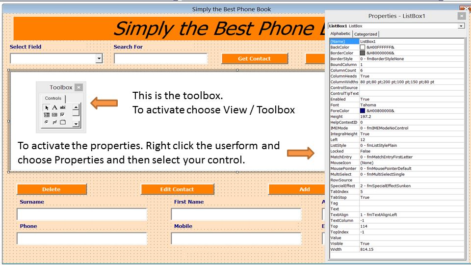 Excel Phone Book - Contact Manager - Excel 2010 - Online PC Learning