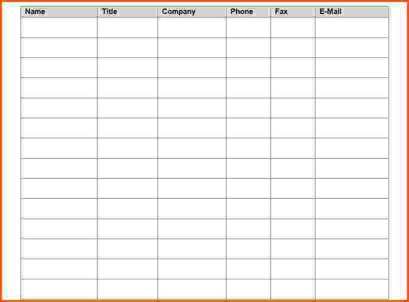 7+ attendance sheet template | Survey Template Words