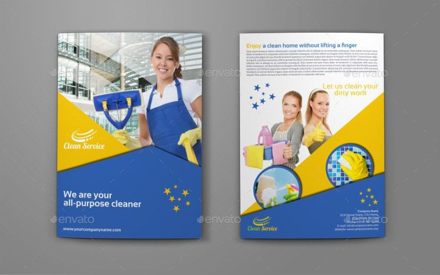 Cleaning Services Company Bi-Fold Brochure by OWPictures ...